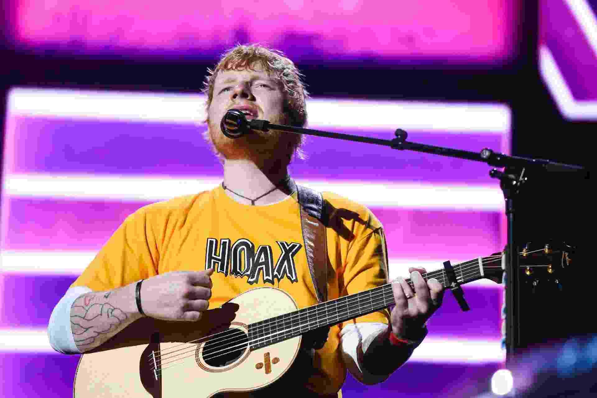 "Ed Sheeran apresenta a turnê ""Divide"" para São Paulo - Flavio Moraes/UOL"