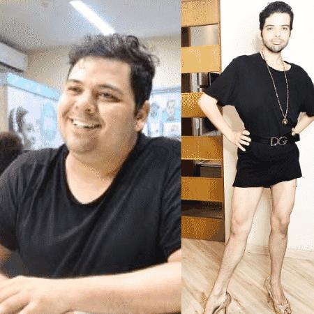 Gustavo Mendes antes e depois de emagrecer - Reprodução/Instagram