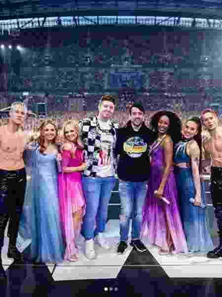 A Spice Girls com o casal Lee Christie e Duane Watters - Reprodução/Instagram