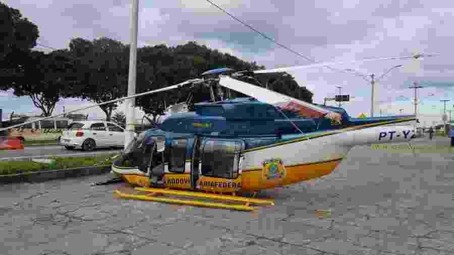 Helicóptero da PRF cai com três policiais no sul da Bahia  - PRF/Divulgação