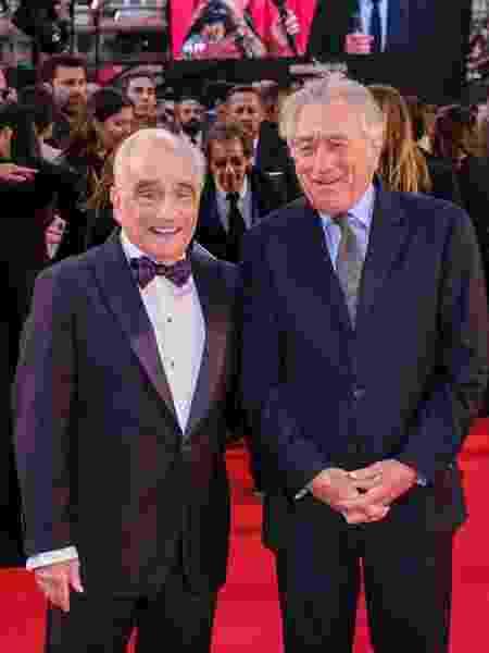 Martin Scorsese e Robert De Niro na pré-estreia de O Irlandês no Festival de Londres - Gareth Cattermole/Getty Images