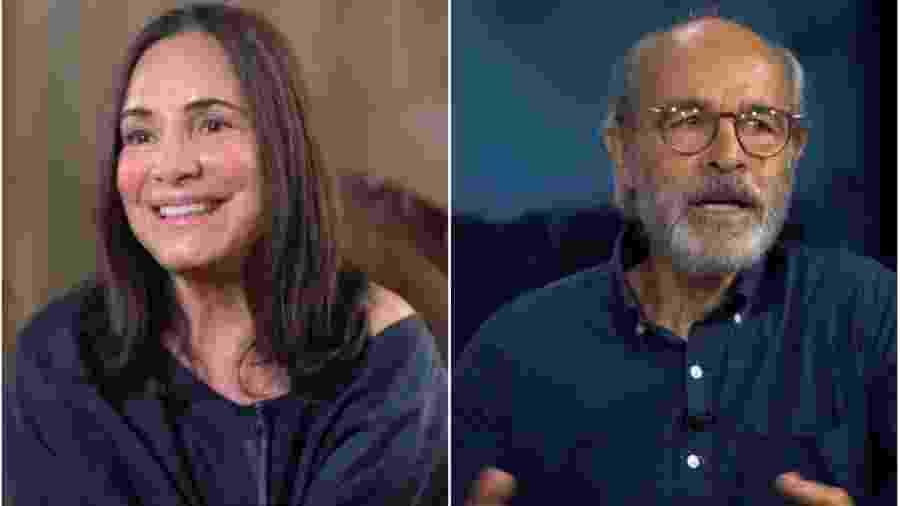 Regina Duarte e Osmar Prado - Montagem de fotos de reprodução