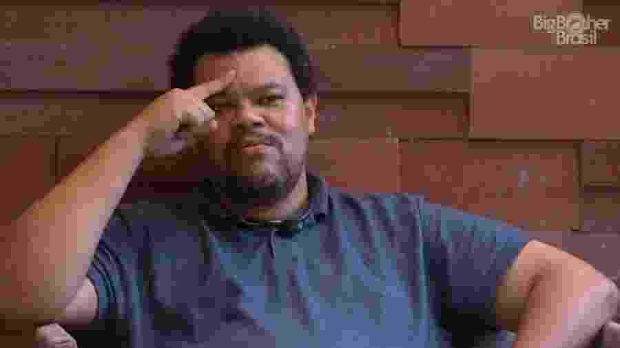 """Após ser indicado ao paredão pela terceira vez, Babu pediu: """"Quero ser o primeiro homem negro a ganhar o Big Brother """" - Reprodução/Globoplay"""