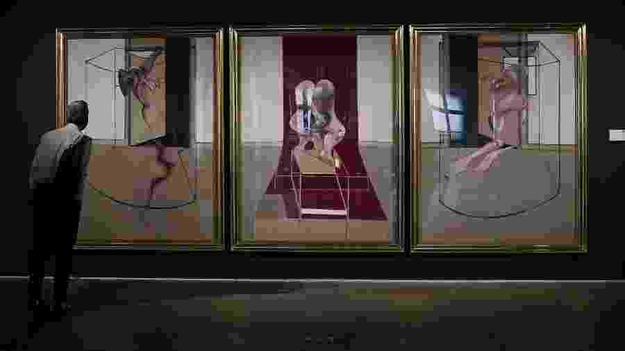 """Francis Bacon é conhecido por trípticos como o """"Masterpiece of Tragic Grandeur"""" (foto) - Timothy A. Clary/AFP"""