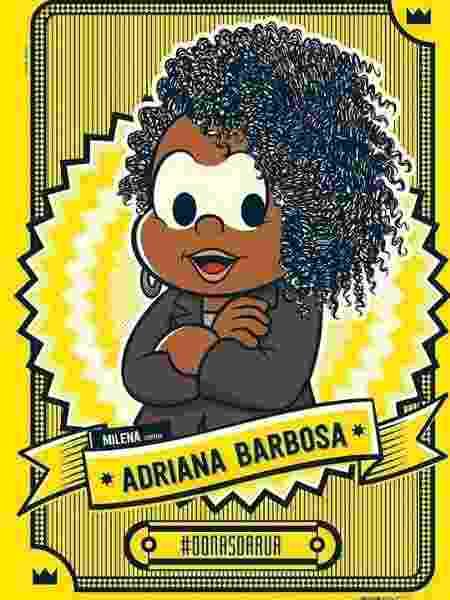 """Adriana Barbosa foi representada pela personagem Milena no projeto """"Donas da Rua da História"""", da Turma da Mônica - Reprodução/Twitter"""