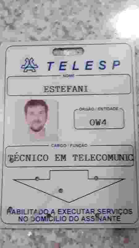 Fusca da Telesp crachá - Arquivo pessoal - Arquivo pessoal