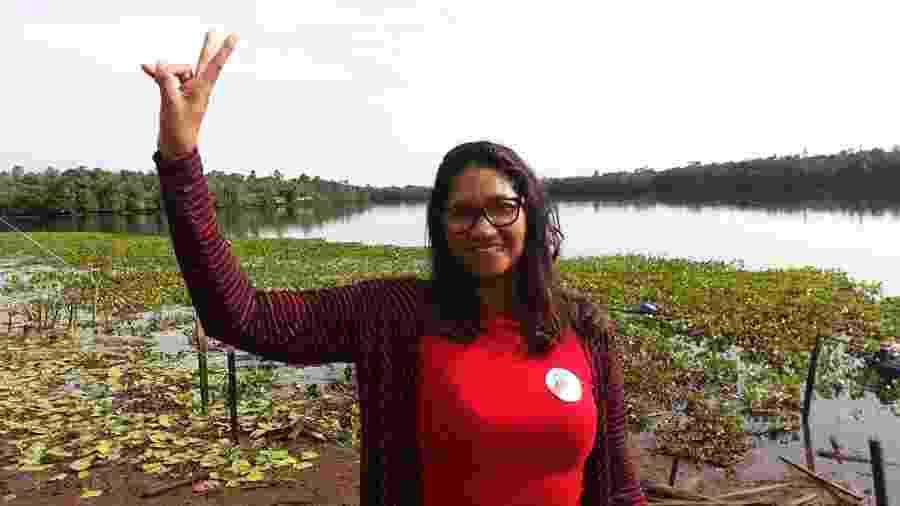 A pedagoga Leila Arruda, que disputava a prefeitura de Curralinho, no interior do Pará  - Arquivo pessoal