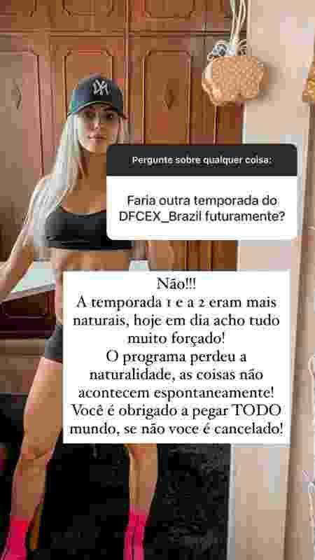 Saory Cardoso responde se voltaria a participar do 'De Férias com Ex' - Reprodução/Instagram - Reprodução/Instagram