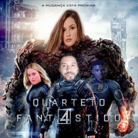 Montagem com integrantes do G4 do BBB 21 como o Quarteto Fantástico - Reprodução / Twitter