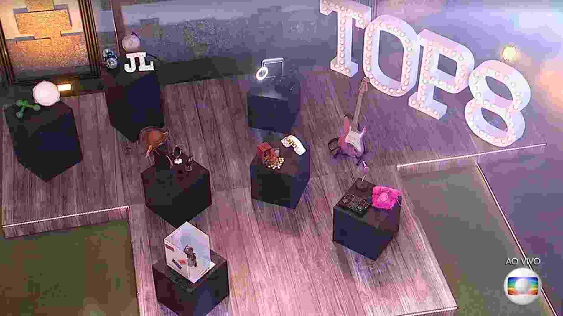 BBB 21: Decoração da festa TOP 8 - Reprodução/Globoplay