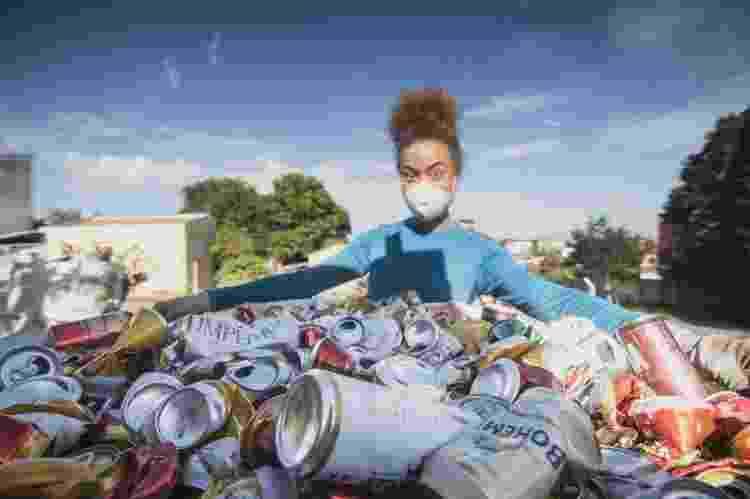 Aretha fez reciclagem para ajudar a viabilizar expedição ao Everest - Gabriel Tarso/Divulgação - Gabriel Tarso/Divulgação