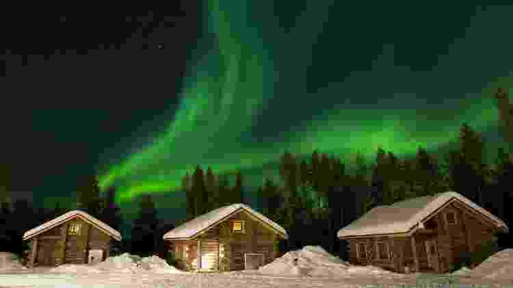 Aurora boreal na Lapônia, região no extremo norte da Finlândia - Copyright/ Juan Pelegrín/Getty Images - Copyright/ Juan Pelegrín/Getty Images