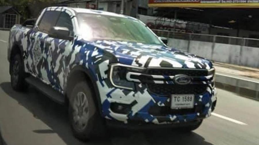 Nova Ford Ranger é flagrada na Austrália - Reprodução