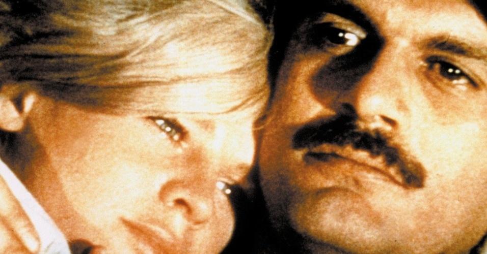 """1965 -  Julie Christie e Omar Sharif em cena do filme """"Doutor Jivago"""""""