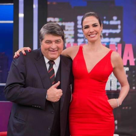 "Luciana Gimenez recebe convidados como José Luiz Datena no ""Luciana By Night"" - Artur Igrecias/RedeTV!"