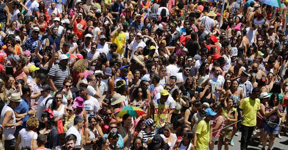 Público lota imediações do parque para acompanhar bloco Bicho Maluco Beleza