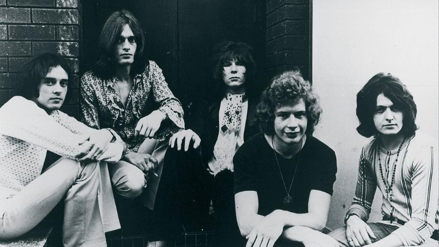 A formação do Yes de 1969 a 1971: Peter Banks, Tony Kaye, Chris Squire, Bill Bruford e Jon Anderson - Divulgação