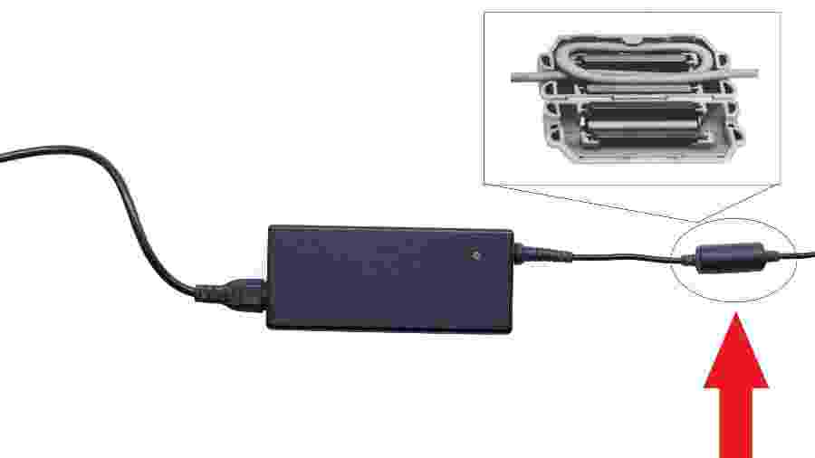 O núcleo de ferrite é aquele cilindro que aparece no cabo do carregador do seu notebook - iStock
