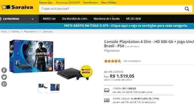ps4-por-menos-de-r-1600-na-saraiva-1493062000011_v2_615x300 Comprar PS4 y juegos separados sale más barato que el paquete nuevo de Sony