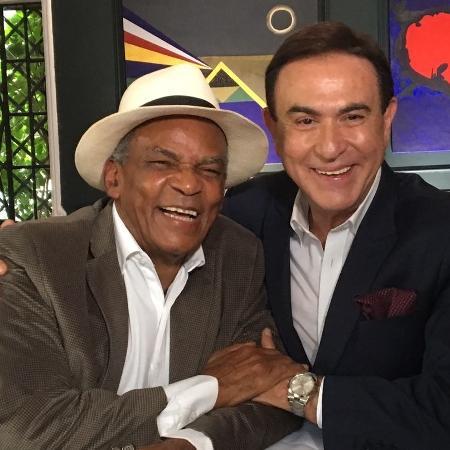 Ator Antonio Pitanga é entrevistado por Amaury Jr. - Divulgação/RedeTV!