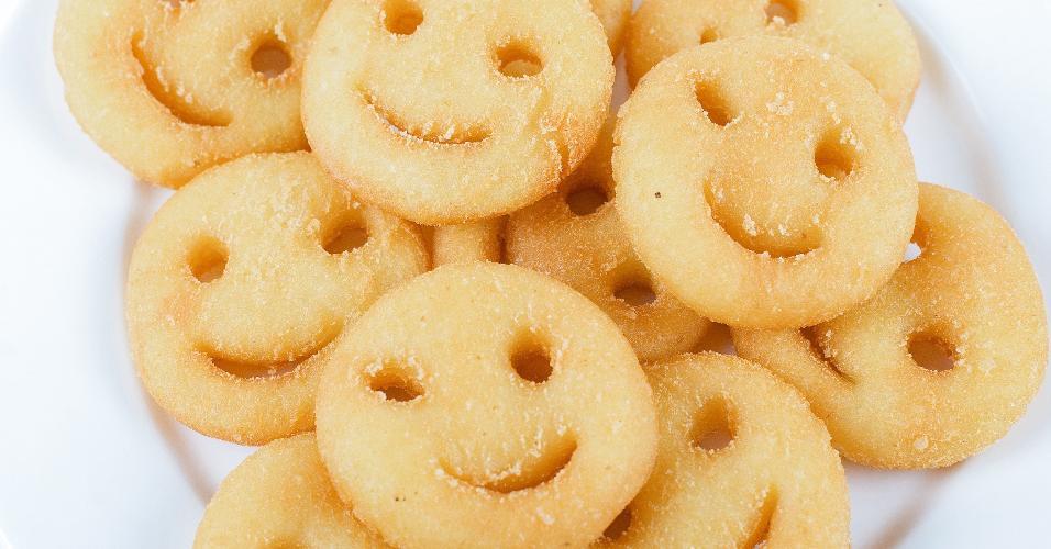 Batatas frita pronta; batata smile; fritura