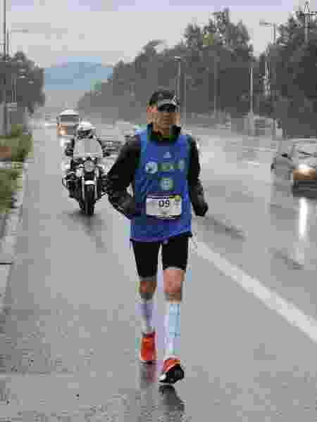 Flávio, ultramaratona, chuva - Arquivo pessoal - Arquivo pessoal