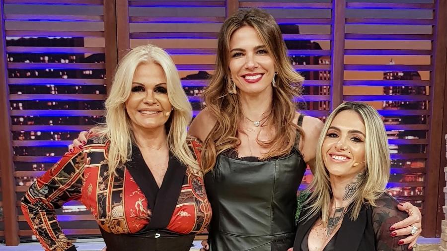 Monique Evans e a namorada Cacá Werneck participara do Luciana by Night - Divulgação/RedeTV