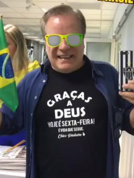 Chico Pinheiro vibra com vitória do Brasil - Reprodução/Instagram