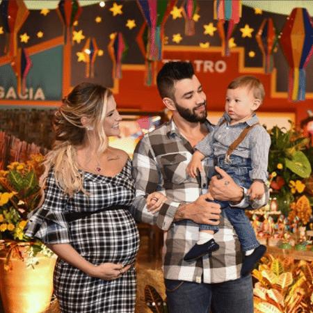 Andressa Suita e Gusttavo Lima com Gabriel - Reprodução/Instagram
