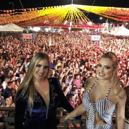 Ex-BBBs Patrícia e Jéssica curtem festival de forró - Reprodução/Instagram