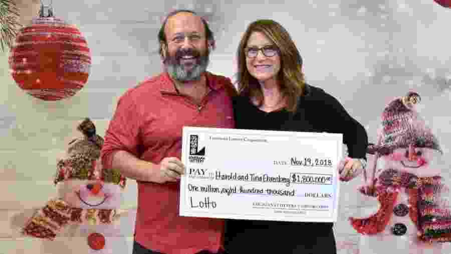 Harold e Tina Ehrenberg - Divulgação/Louisiana Lottery