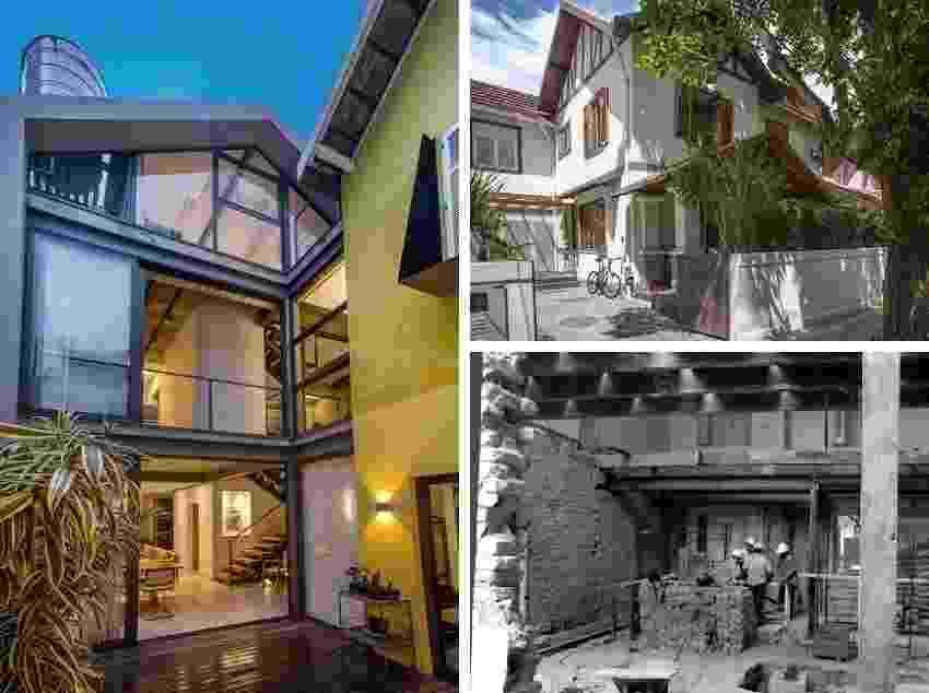 A reforma na casa dos anos 1920 preservou grande parte das características do estilo neo-normando nas fachadas, mas na área dos fundos criou soluções modernas para aumentar a iluminação natural, ventilação e conexões entre espaços internos e externos. Projeto Baumamm Arquitetura - Divulgação