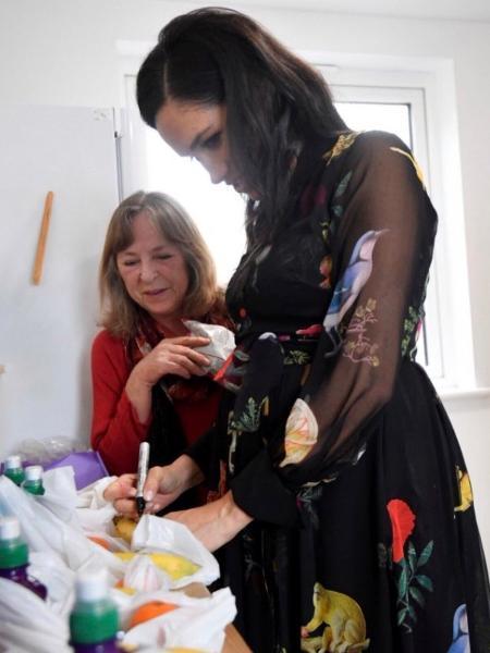 Meghan Markle em evento em Bristol - Reprodução/Twitter