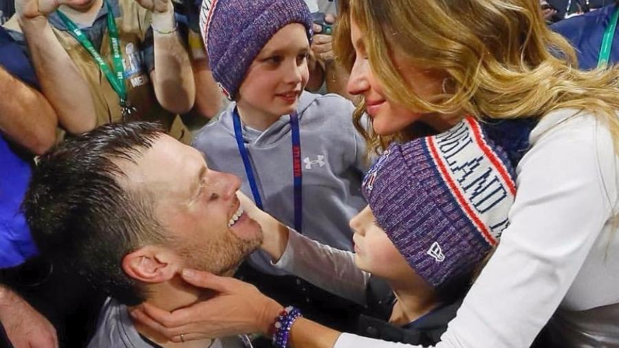 Gisele Bündchen parabeniza o marido, Tom Brady, pelo título do Super Bowl - Reprodução/Instagram/gisele