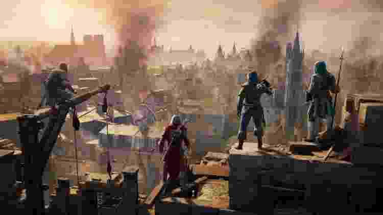 """Paris em chamas: A Revolução Francesa é o cenário das aventuras de """"Assassin's Creed Unity"""" - Divulgação"""