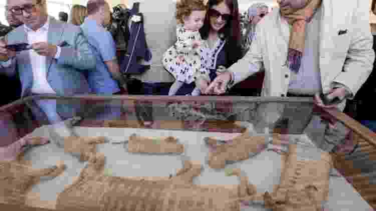 As múmias de animais foram encontradas em Saqqara, um importante cemitério antigo perto do Cairo - Reprodução/Reuters