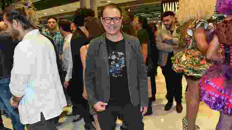 O ex-BBB Dicesar também aproveitou para conferir o musical - Francisco Cepeda/AgNews