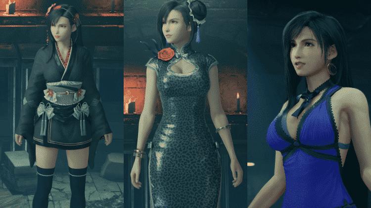 FF VII remake tifa escolhas de viestidos - Reprodução - Reprodução