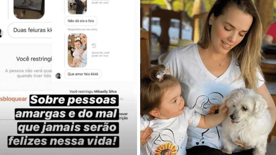 Thaeme compartilhou prints de comentários negativos sobre a filha Liz, de 1 ano - Reprodução/Instagram/@thaeme