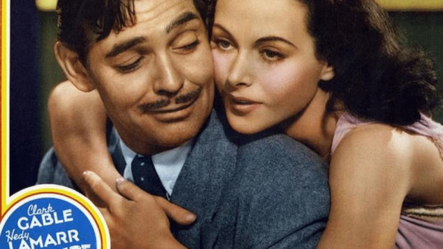 Lamarr com Clark Gable: ela conseguiu um lucrativo contrato com o estudio MGM - MGM