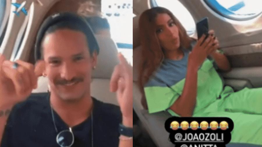 Anitta brincou sobre possíveis boatos de affair ao ser filmada ao lado de João Zoli - Reprodução/Instagram/@glauciodavid