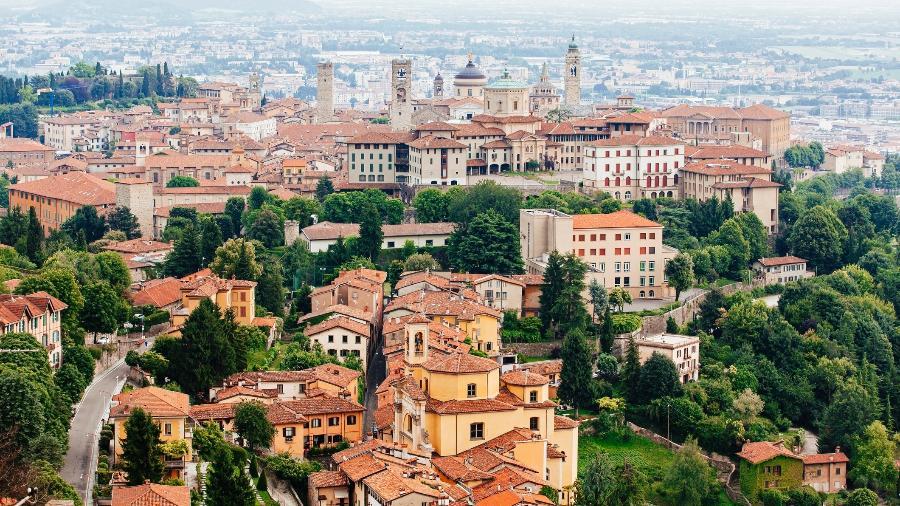 Vista de Bergamo, na região da Lombardia - Alexander Spatari/Getty Images