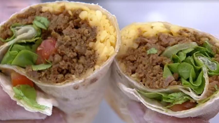 Burritos feitos por Ana Maria Braga - Reprodução/TV Globo