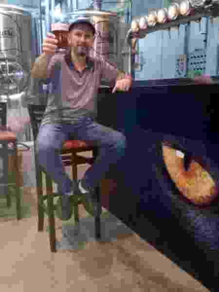 Evandro Zanini, mestre-cervejeiro do extinto Brew Pub - Arquivo pessoal - Arquivo pessoal