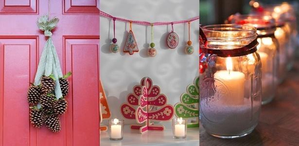 """Na onda do """"coloque a mão na massa"""", decore sua casa para o Natal com ideias simples - Reprodução/ Depósito Santa Mariah/ Divulgação/ Tok&Stok/ Reprodução/ Pinterest - Follow the Colours/ Montagem UOL"""