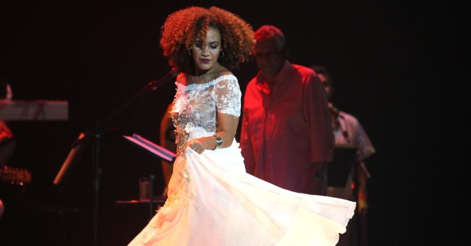 26.jan.2016 - A cantora Mariene de Castro se apresenta no Vivo Rio, no show de Verão da Mangueira