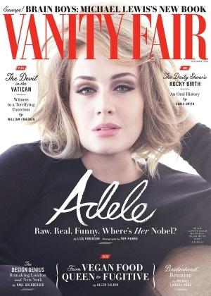 """Adele é capa da edição de dezembro da revista """"Vanity Fair"""" - Divulgação"""