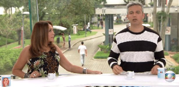 """Otaviano Costa solta frase deselegante durante o """"Vídeo Show"""" - Reprodução/TV Globo"""