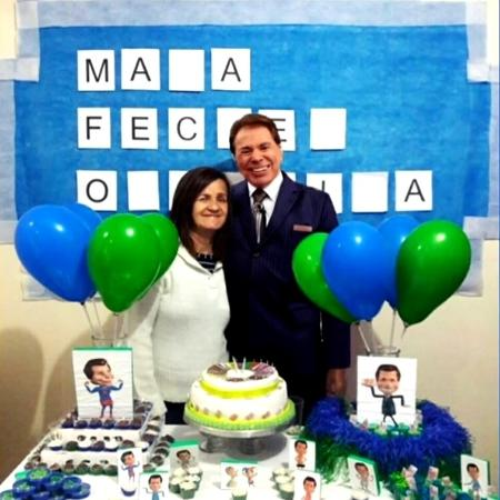 Fã faz festa com tema Silvio Santos - Reprodução