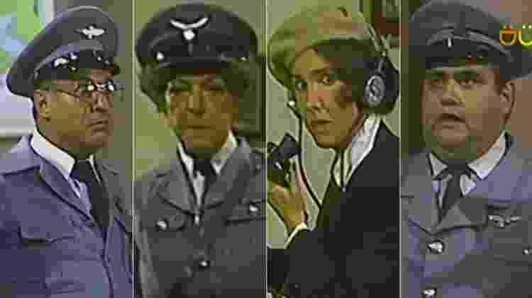 """Horacio Gómez, Angelines Fernández, Florinda Meza e Edgar Vivar foram nazistas em episódio de """"Chapolin"""" - Montagem/Reprodução - Montagem/Reprodução"""